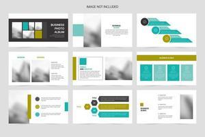 Colorful corporate brochure promotion presentation design template