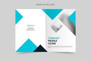 portada de folleto minimalista de negocios vector