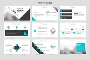 Minimalistic triangle geometric business presentation slide template