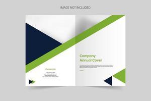 Minimalistic brochure cover template vector