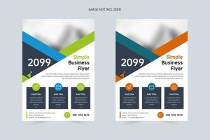 Simple company promotion A4 flyer template