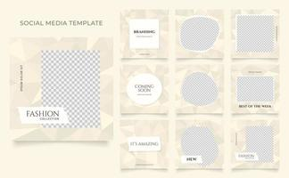 Social media template banner fashion sale promotion vector