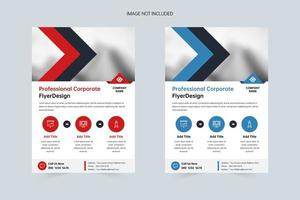 Business company A4 business flyer template