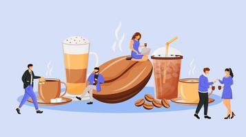 Coffee culture flat concept vector illustration