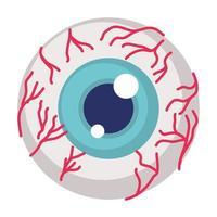 eye human organ halloween icon vector