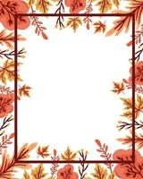 autumn leafs plant seasonal frame