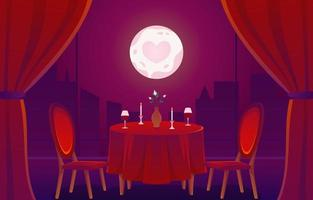 Romantic Date In a Cafe Concept vector