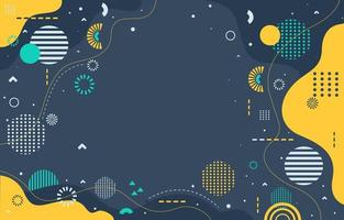 Flat Design Background with Abstract Pattern