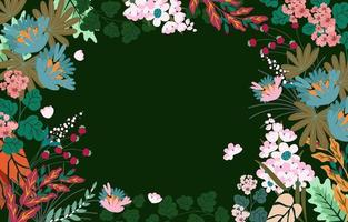 Floral Spring Background with Blossom Flowers vector