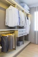 Modern sleek closet photo