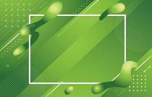 Green Fluid Background Concept vector