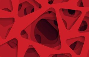 Red abstract paper cut background vector