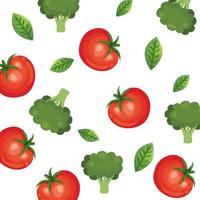 background of tomatoes and broccoli vegetables