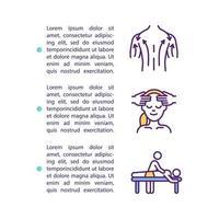 Icono de concepto de masaje de drenaje linfático con texto vector