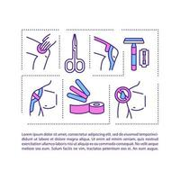 Kinesiology taping concept icon with text