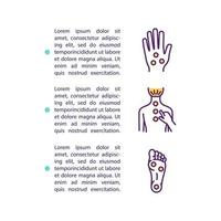 Acupressure concept icon with text