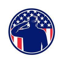 American Veteran Soldier or Military Serviceman
