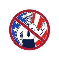 No Entry Without Immunization USA Sign Icon