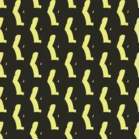 Vector seamless pattern, texture background. Hand drawn, black, yellow colors.