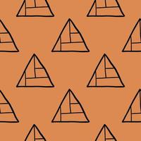 Vector seamless pattern, texture background. Hand drawn, orange, black colors.