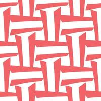 Vector seamless pattern, texture background. Hand drawn, red, white colors.