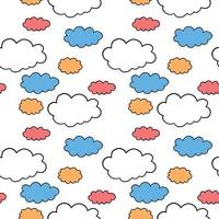 Vector seamless texture background pattern. Hand drawn, orange, blue, red, white, black colors.