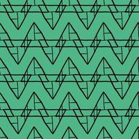 Vector seamless pattern, texture background. Hand drawn, green, black colors.