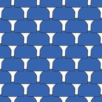 Vector seamless texture background pattern. Hand drawn, blue, black, white colors.