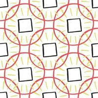 Vector seamless pattern, texture background. Hand drawn, red, yellow, black, white colored.