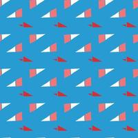 Vector seamless texture background pattern. Hand drawn, blue, red, white colors.