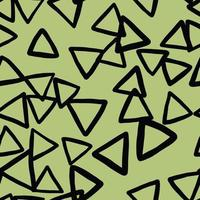 Vector seamless texture background pattern. Hand drawn, green, black colors.
