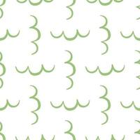 Vector seamless pattern, texture background. Hand drawn, green, white colors.