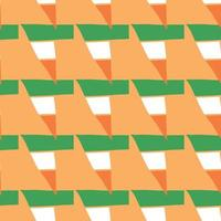 Vector seamless texture background pattern. Hand drawn, orange, green, white colors.