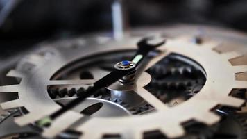 Clock with Gears Moving video