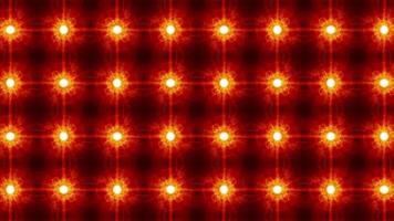 loop abstrato estrelas brilhantes mosaico padrão parede de luz