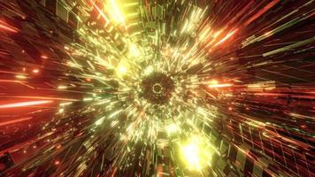 golden cool fantascienza fantascienza tunnel spaziale 3d illustrazione motion design vj loop video