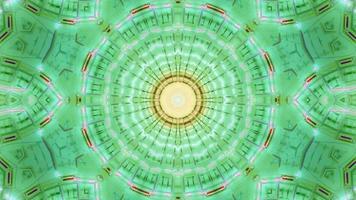 blinkende gelbgrüne Sternkalaidoskop 3d illiustration vj Schleife