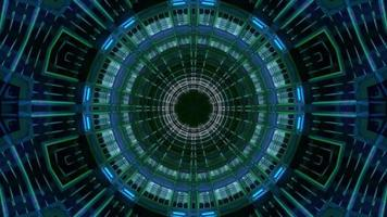 Science-Fiction-Neon-Tunnel-Mandala-3D-Illustration-VJ-Schleife