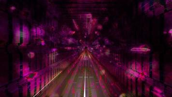 buio astratto fantascienza tunnel 3d illustrazione vj loop video