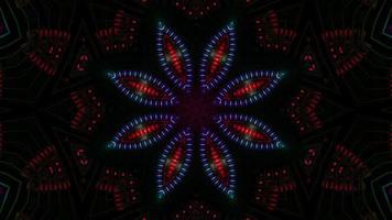 luzes piscando efeito visual ilustração 3d vj loop