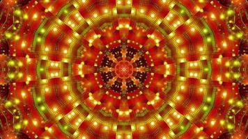Green Red Blinking kaleidoscope 3d illustration vj loop