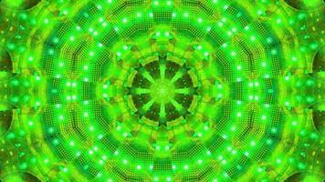 verde azul piscando caleidoscópio ilustração 3D vj loop video