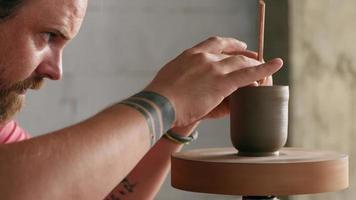 Potter Makes a Clay Teapot
