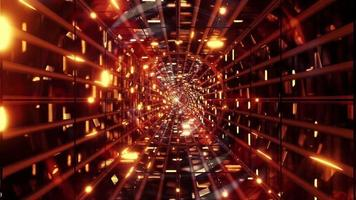 Abstract golden moving lights 3d illustration vj loop