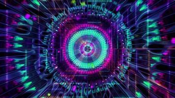 partículas brilhantes do espaço arte abstrata ilustração 3d vj loop video