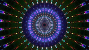 runde Rotationsreflexion visuelle 3d Illustration vj Schleife video