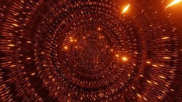 laranja dourado partículas do espaço ficção científica 3d ilustração vj loop video