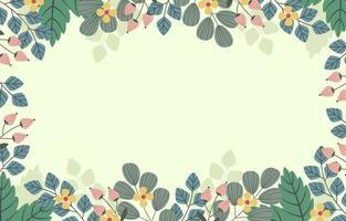 Beautiful Floral Framing vector