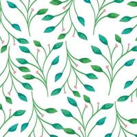 background of branches with leafs decoration