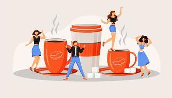 Coffee fest flat concept vector illustration